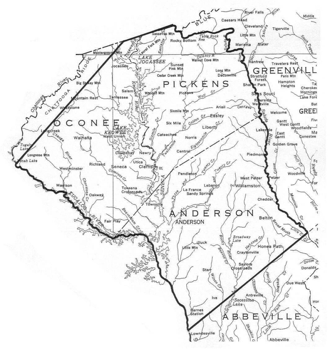 oconee county sc map with County Map Of Sc on Photostream also Fair play further Cnty besides Lake Wylie additionally Town Of Clover.